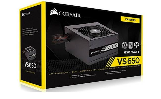 Corsair VS Series™ VS650 — 650W 80 PLUS® White Certified PSU (UK)