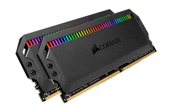 CORSAIR Dominator Platinum RGB 16GB (2 x 8GB) DDR4 RAM 3600MHz CL18 Memory Kit-Black