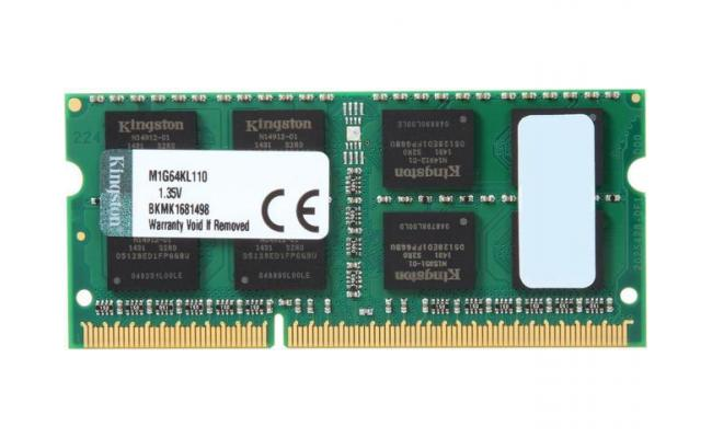Kingston 8GB DDR3L-1600Mhz SODIMM Notebook Memory