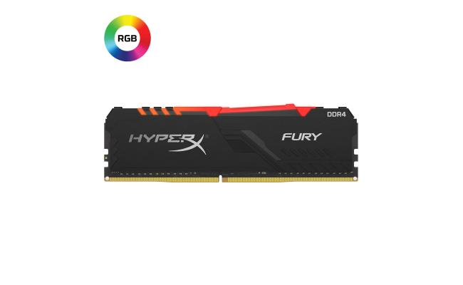 HYPER-X Fury 16GB RGB DDR4 2666MHz Black Desktop Memory