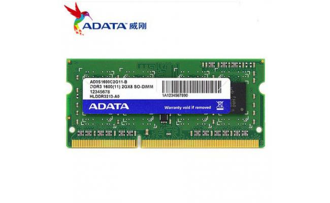 Adata 8GB DDR3-1600Mhz SODIMM Notebook Memory