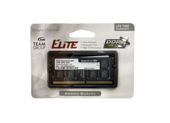TEAMGROUP ELITE SO-DIMM Single 16GB 3200MHz CL22 DDR4 LAPTOP MEMORY