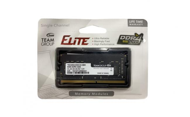 TEAMGROUP ELITE SO-DIMM Single 8GB 3200MHz CL22 DDR4 LAPTOP MEMORY