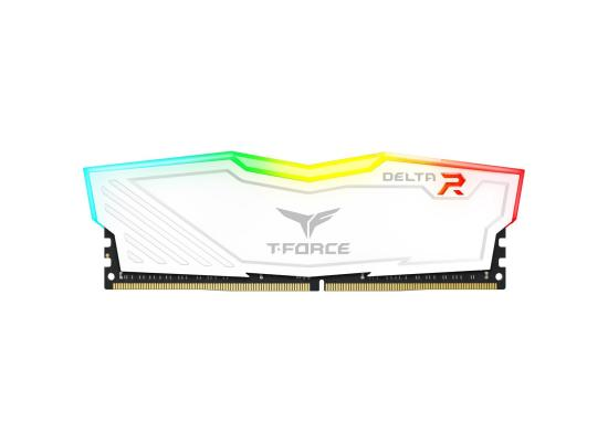TEAMGROUP T-Force Delta Single 8GB 3200MHz CL16 DDR4 RGB Desktop Memory - White