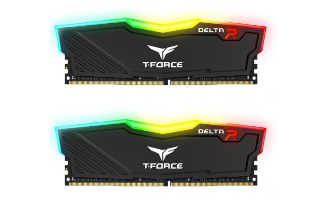 TEAMGROUP T-Force Delta RGB 16GB Kit (2x8GB) 3600MHz CL18 DDR4 Desktop Memory - Black