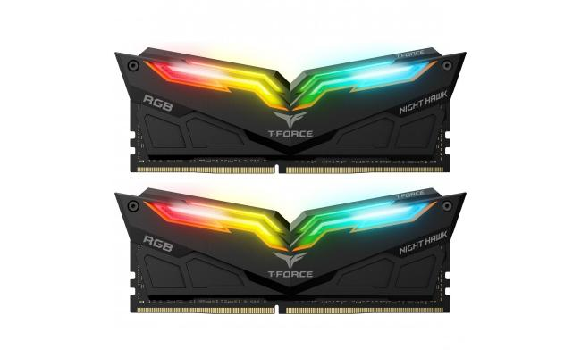 TEAMGROUP T-Force NIGHT HAWK RGB 16GB 2x8 3200MHZ DDR4 GAMING MEMORY