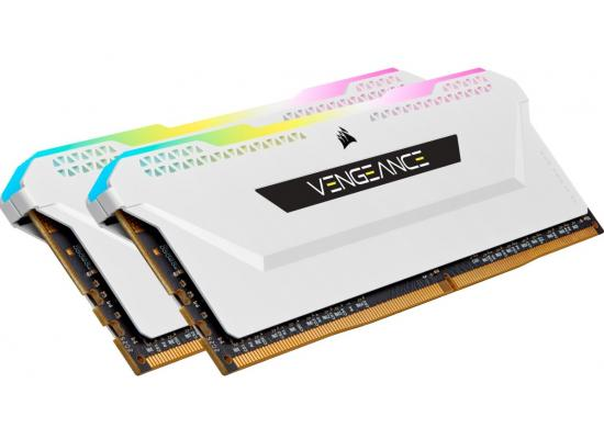 CORSAIR VENGEANCE® RGB PRO SL 16GB (2 x 8GB) DDR4 RAM 3200MHz CL16 Memory Kit — White