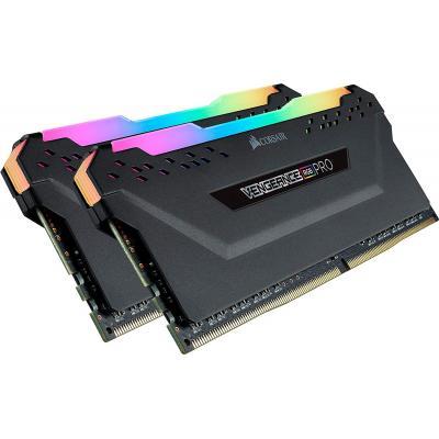 CORSAIR VENGEANCE® RGB PRO 16GB (2 x 8GB) DDR4 RAM 3000MHz CL15 Memory Kit — Black