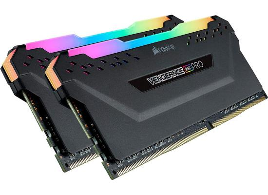 Corsair VENGEANCE® RGB PRO 16GB (2 x 8GB) DDR4 DRAM 3200MHz C16 Memory Kit — Black