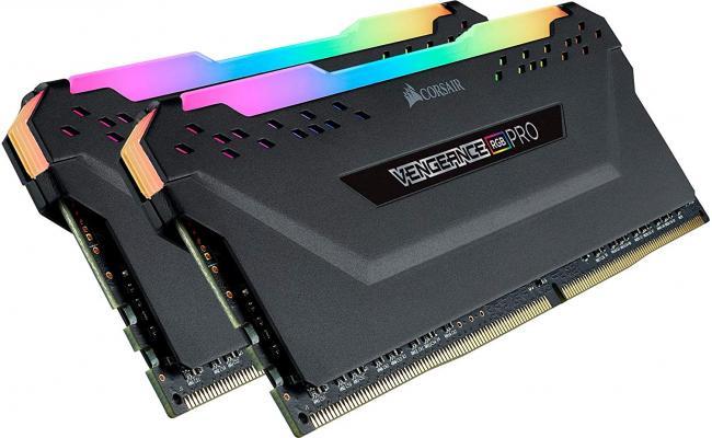 CORSAIR VENGEANCE® RGB PRO 32GB (2 x 16GB) DDR4 RAM 3200MHz CL16 Memory Kit — Black