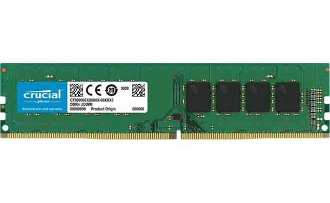 Crucial 4GB DDR4-2400Mhz UDIMM Desktop Memory