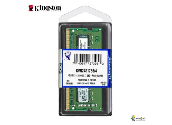 Kingston 4GB DDR4-2400Mhz SODIMM Notebook Memory