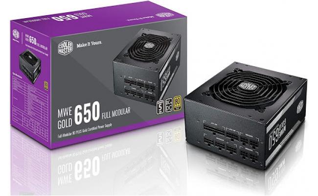 Cooler Master MWE650 v2 Full Modular 80+ Gold Certified 650W Power Supply