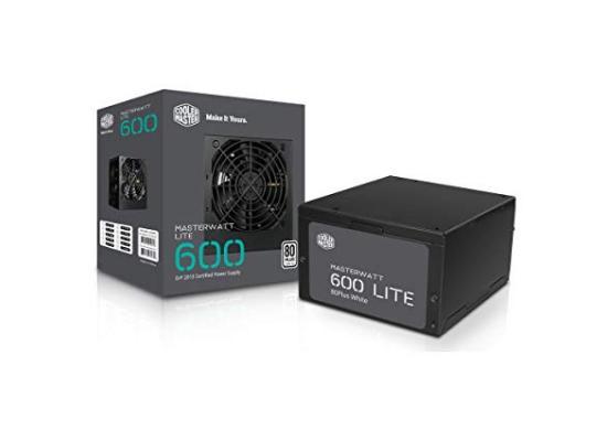 Cooler Master MasterWatt Lite 600w  80 PLUS MasterWatt Lite Power Supply