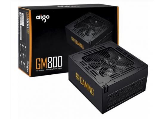 Aigo GM800, 800W, 80 Plus Gold, Fully Modular ATX Power Supply, 14cm Hydraulic Bearing PWM Fan
