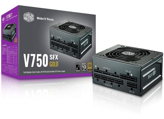 Cooler Master V750 SFX Gold Full Modular Power Supply, 750W, 80+ Gold Efficiency, ATX Bracket Included, Quiet FDB Fan, SFX Form Factor