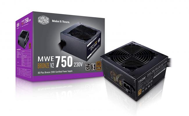 Cooler Master MWE 750 750w Bronze V2 80 PLUS certification Power Supply