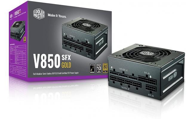Cooler Master V850 SFX Gold Full Modular Power Supply, 850W, 80+ Gold Efficiency, ATX Bracket Included, Quiet FDB Fan, SFX Form Factor
