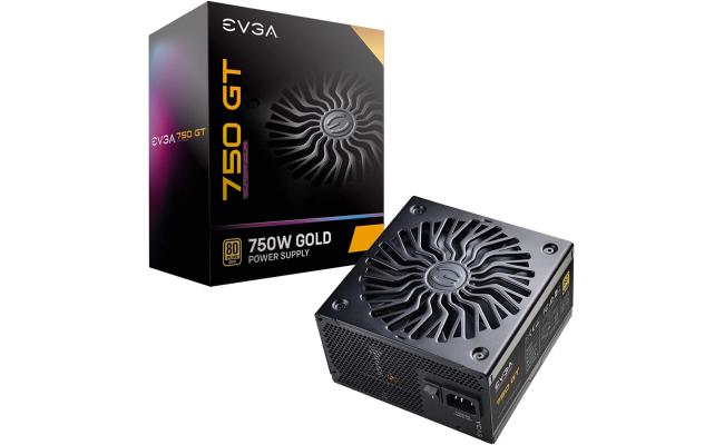 EVGA SuperNOVA 750 GT, 80 Plus Gold 750W, Fully Modular, Auto Eco Mode with FDB Fan, Includes Power ON Self Tester, Power Supply
