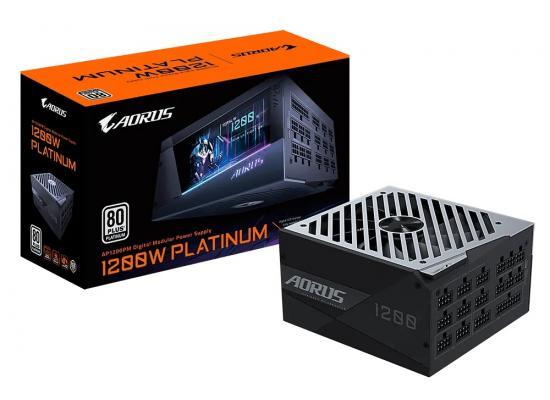 Gigabyte AORUS P1200W, 12000W  80+ PLATINUM FULL MODULAR, Digital LCD Monito, Compact size designr Power Supply