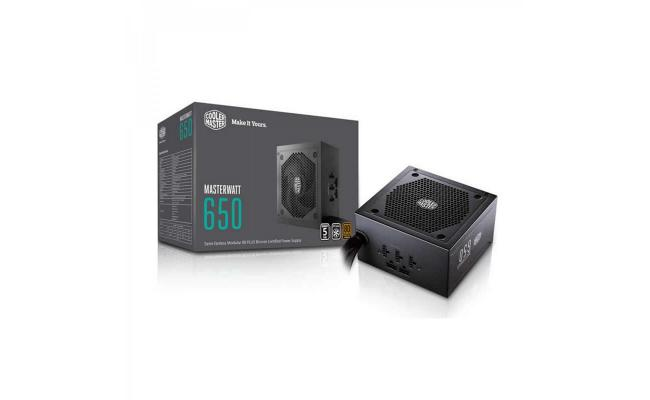 Cooler Master V650 650w 80 PLUS MasterWatt SEMI MODULAR bronze Power Supply