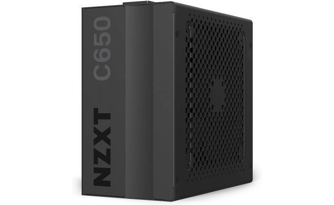 NZXT C650, 650 Watt 80+ Gold Certified, Hybrid Silent Fan Control, Fluid Dynamic Bearings - Modular Design ATX Gaming Power Supply
