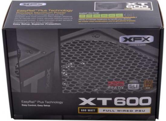 XFX XT Series P1-600B 600W  80 PLUS BRONZE Certified Active PFC Power Supply