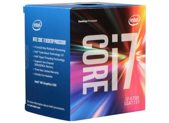 Intel Core i7-6700 SkyLake 4-Core (4.0 GHz Max Turbo)