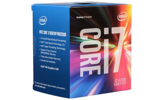 Intel Core i7-6700 SkyLake 4-Core (4.0 GHz Max Turbo)