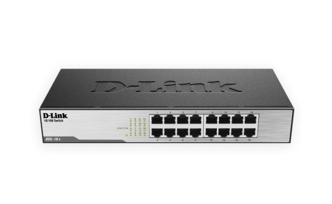 D-Link 16-Port 10/100 Unmanaged Desktop or Rackmount Switch
