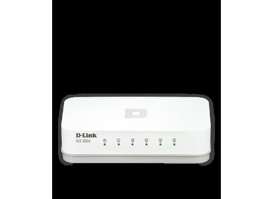 D-Link 5-Port Fast Ethernet Desktop Switch In Plastic Casing
