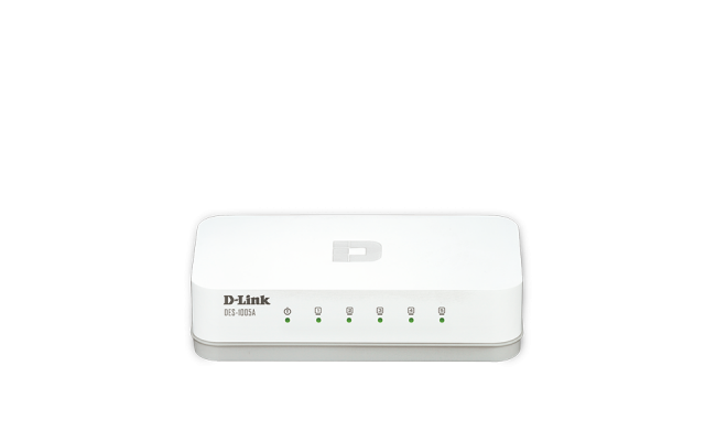 D-Link 5-Port Fast Ethernet Desktop Switch In Plastic Casing