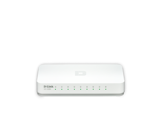 D-Link 8-Port Fast Ethernet Desktop Switch In Plastic Casing