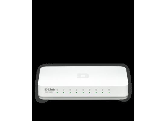 D-Link 8-Port Fast Ethernet Desktop Switch In Plastic Casing