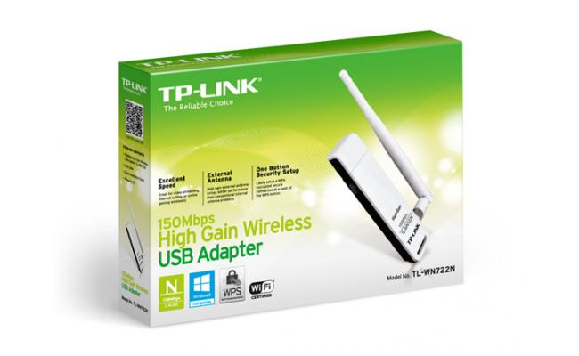 TP-LINK 150Mbps High Gain Wireless USB Adapter