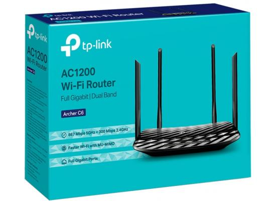 TP-Link AC1200 Gigabit WiFi Router (Archer A6) - 5GHz Dual Band Mu-MIMO Wireless Internet Router Long Range Coverage