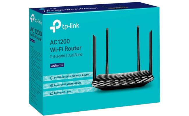 TP-Link AC1200 Gigabit WiFi Router (Archer C6) - 5GHz Dual Band Mu-MIMO Wireless Internet Router Long Range Coverage