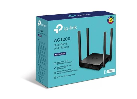 TP-Link Archer C54 AC1200 Dual-Band Wi-Fi 3in1 Router ,Extensive Range,Iptv & 4K TV Supported